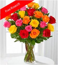 Rainbow Roses <b>OFFER!</b>